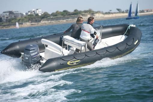 photo essai bateau pneumatique : Explorer 600 Open (Pack) Bombard